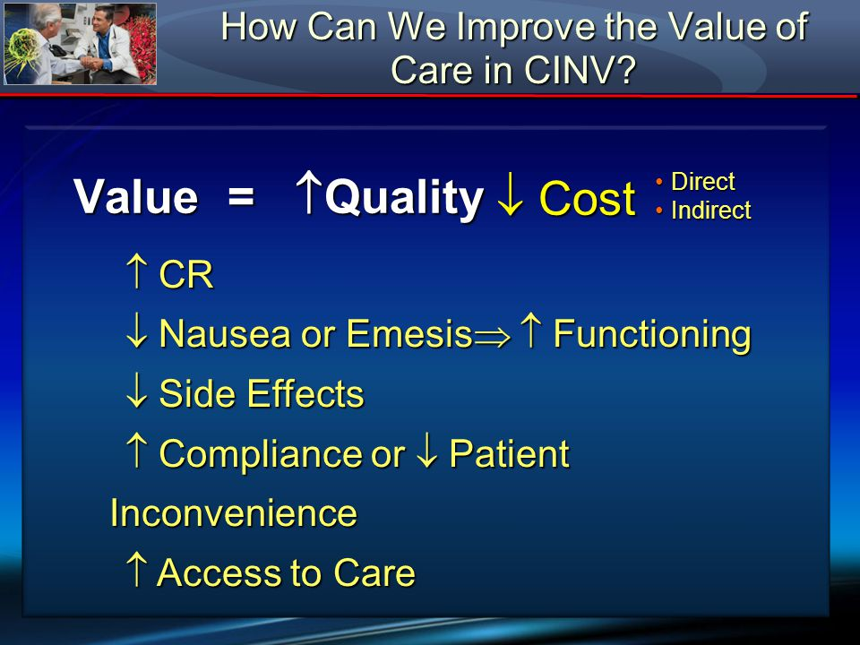How Can We Improve the Value of Care in CINV