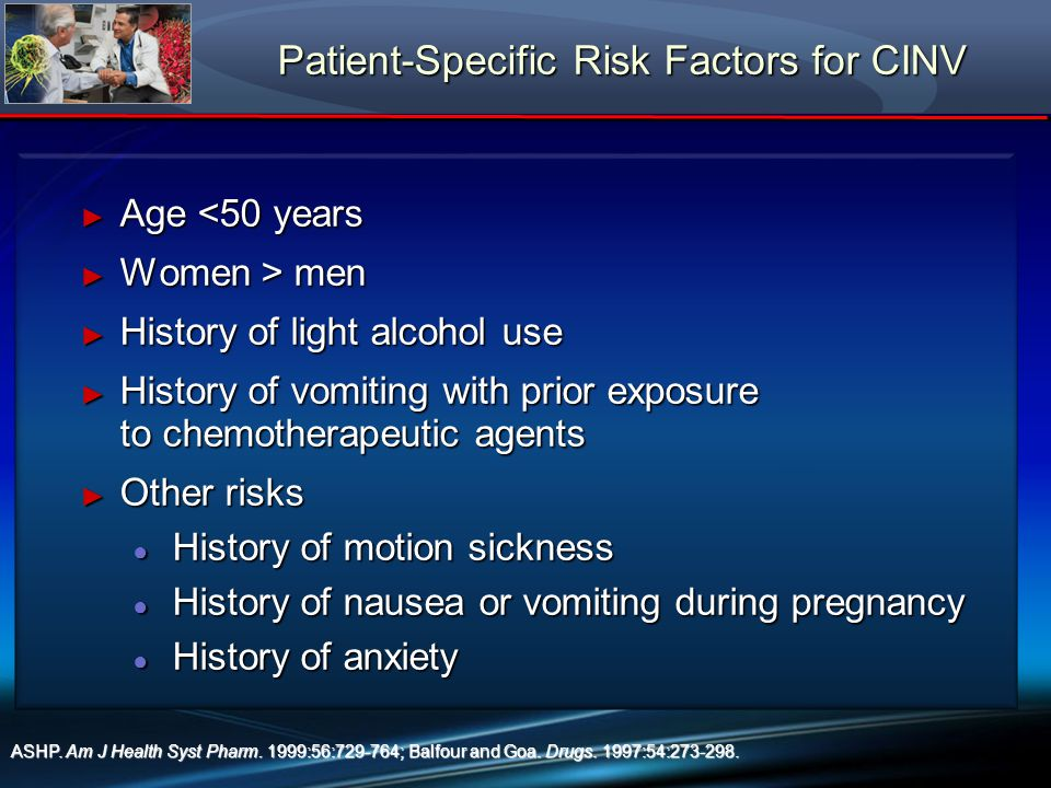 Patient-Specific Risk Factors for CINV