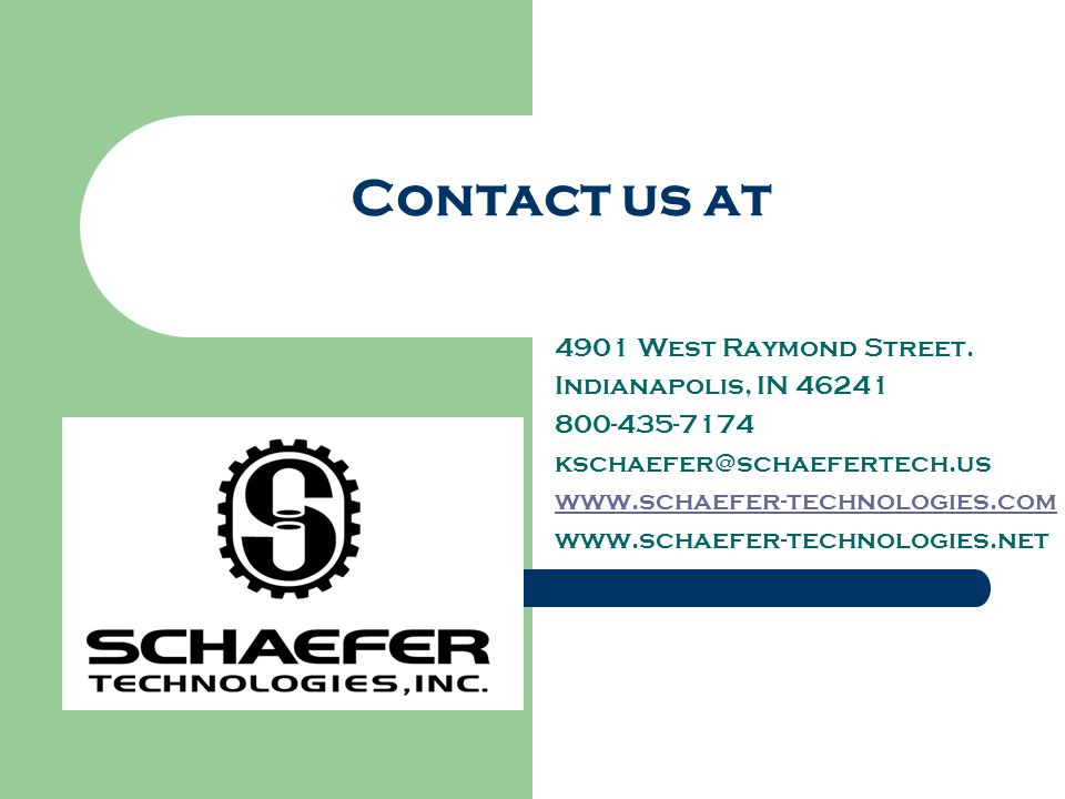 Contact us at 4901 West Raymond Street. Indianapolis, IN 46241