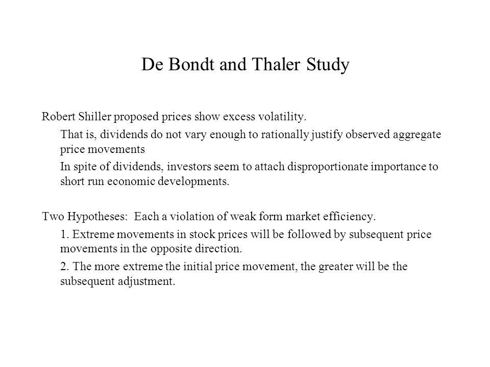 De Bondt and Thaler Study