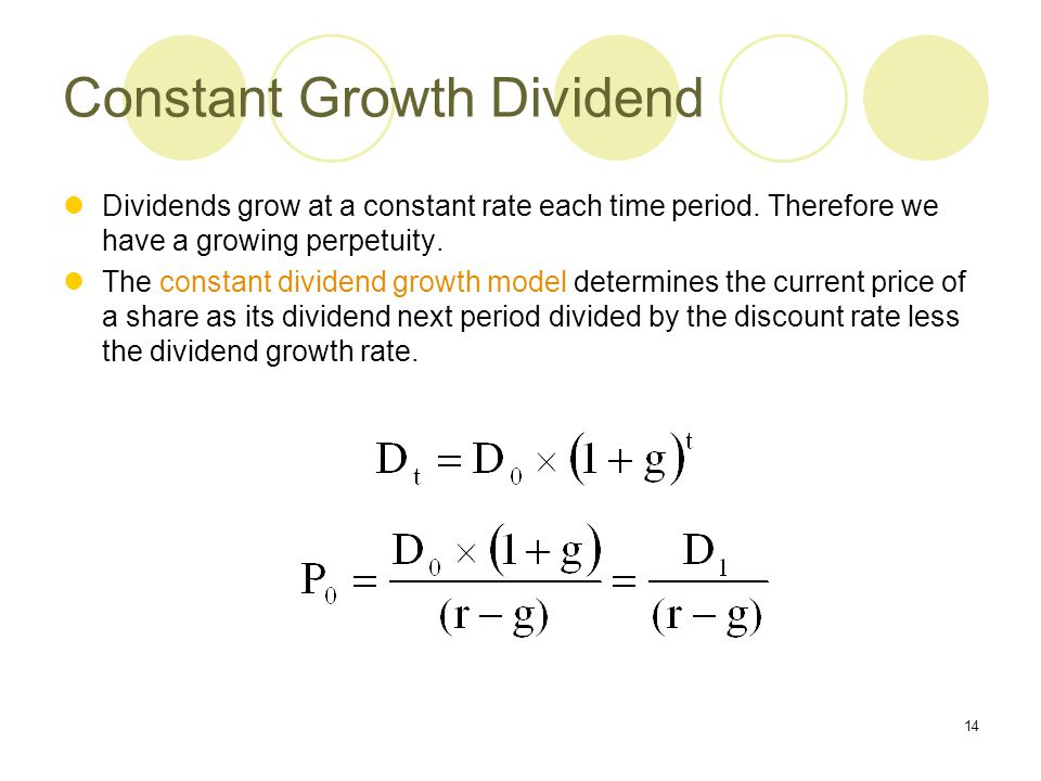 Constant Growth Dividend