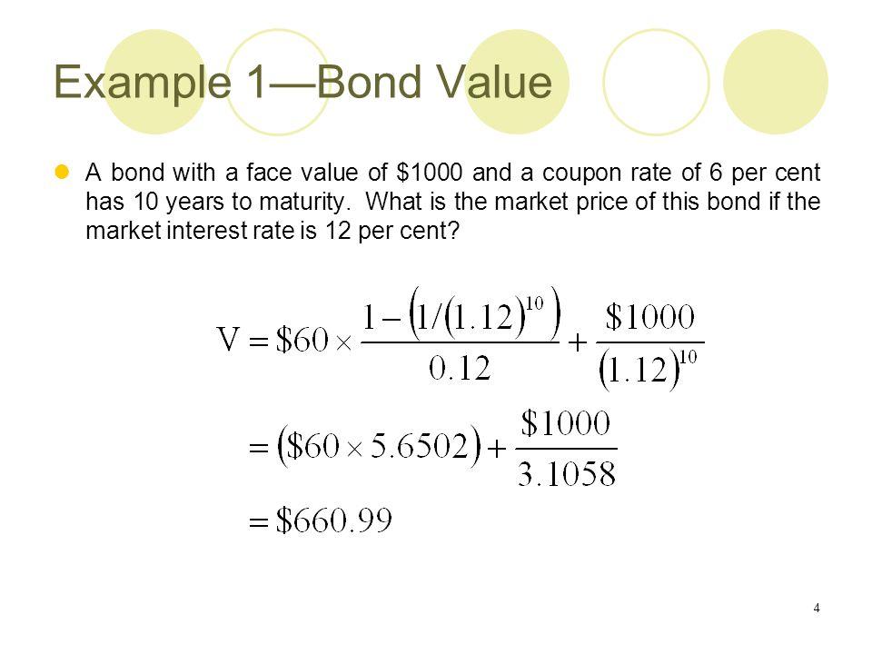 Example 1—Bond Value