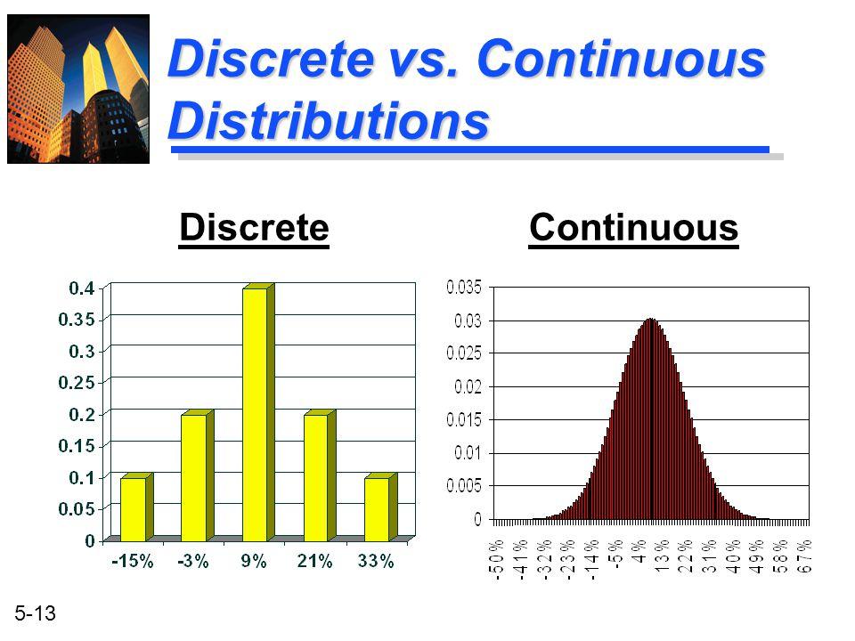 Discrete vs. Continuous Distributions