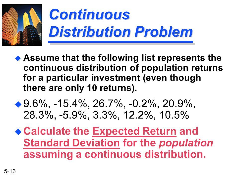 Continuous Distribution Problem