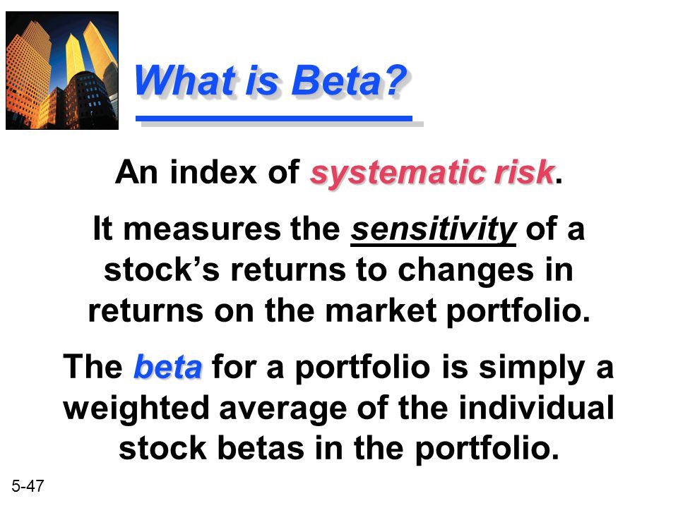 An index of systematic risk.