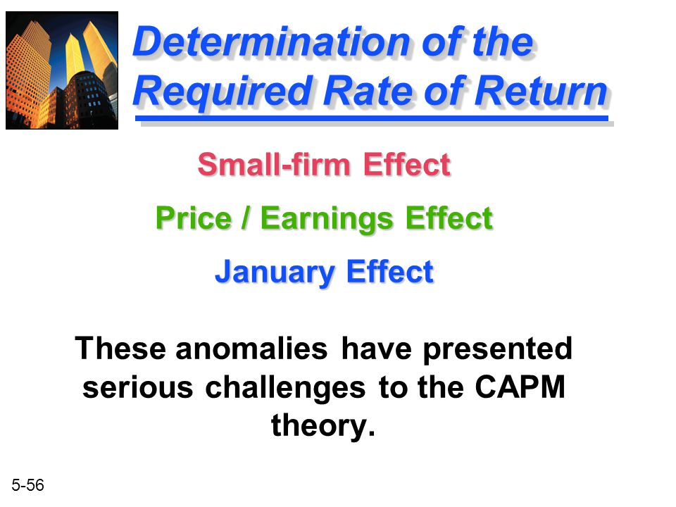 Determination of the Required Rate of Return