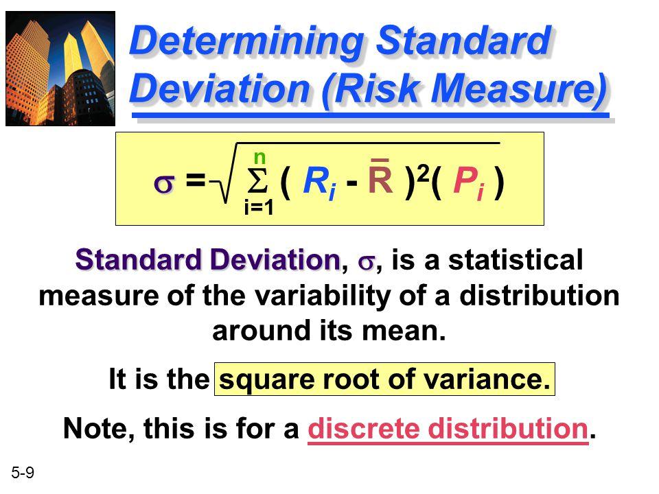 Determining Standard Deviation (Risk Measure)