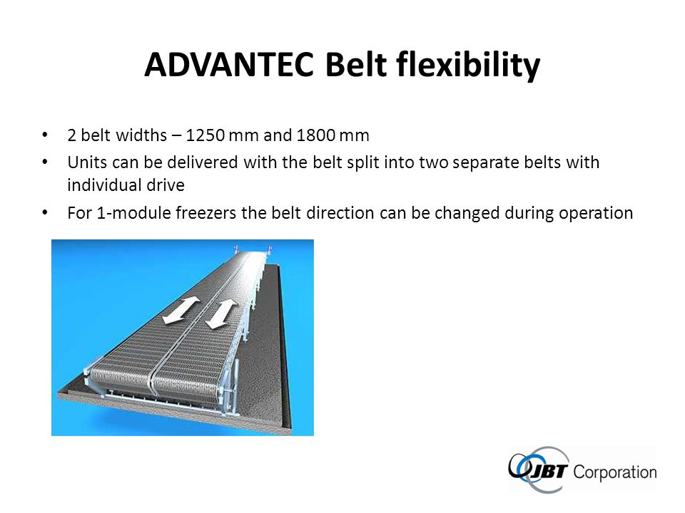 ADVANTEC Belt flexibility