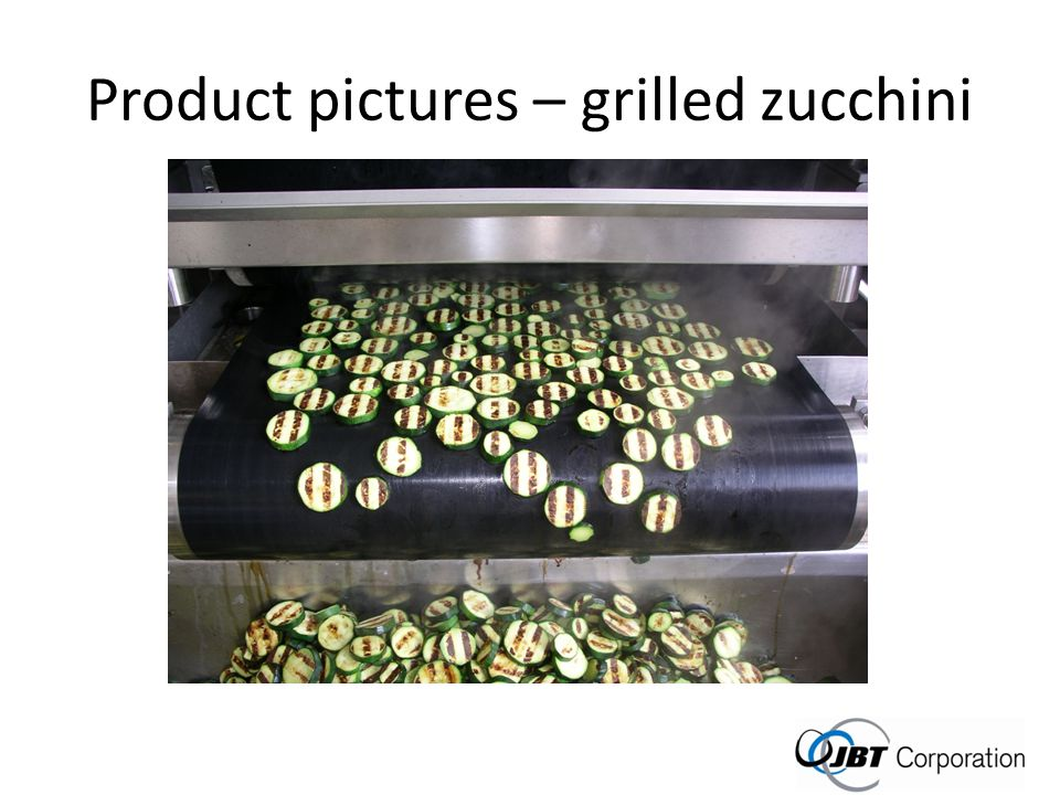 Product pictures – grilled zucchini