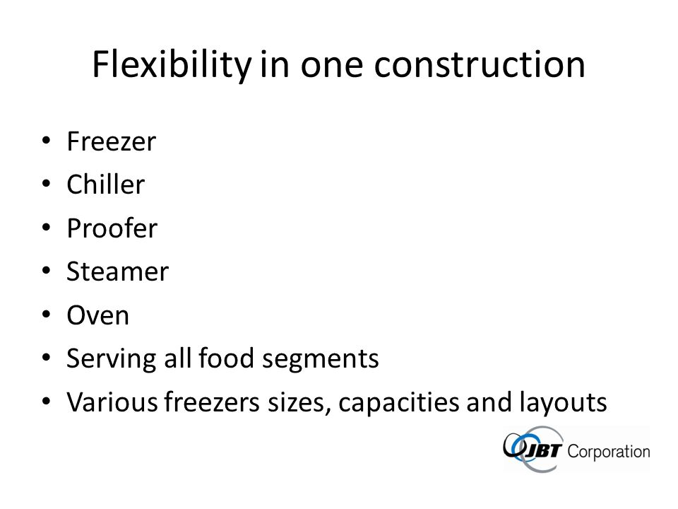 Flexibility in one construction