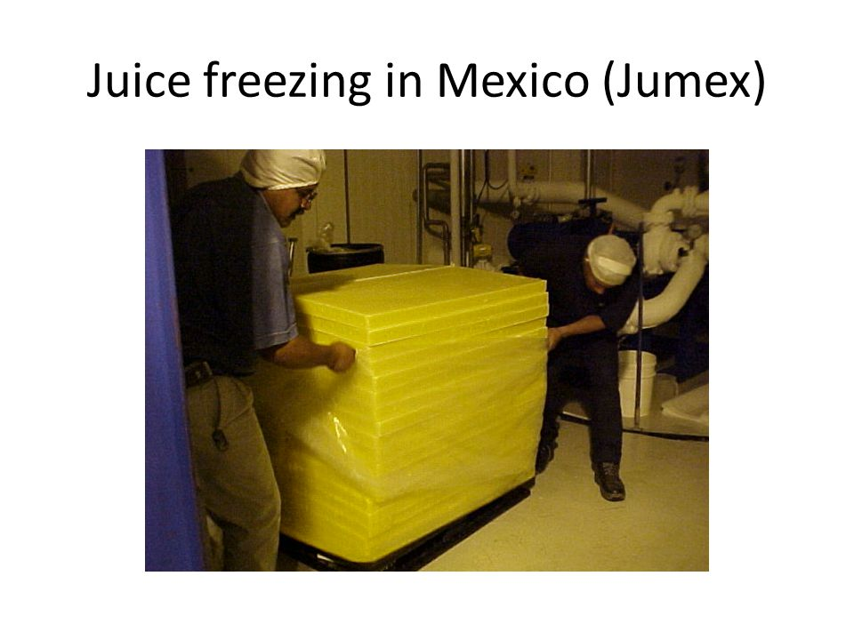 Juice freezing in Mexico (Jumex)