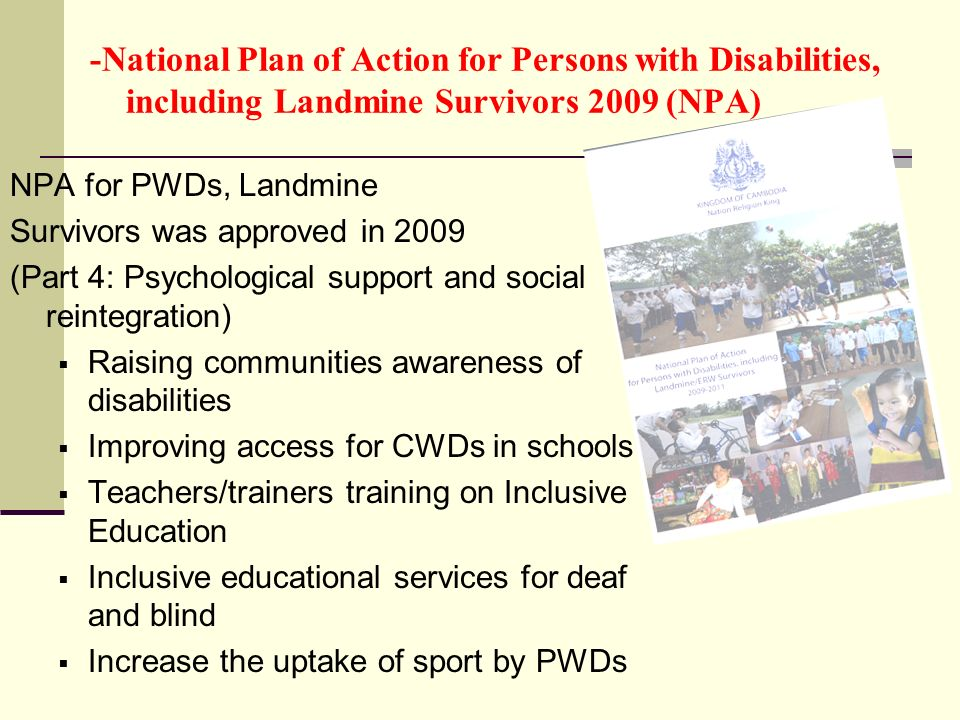 -National Plan of Action for Persons with Disabilities, including Landmine Survivors 2009 (NPA)