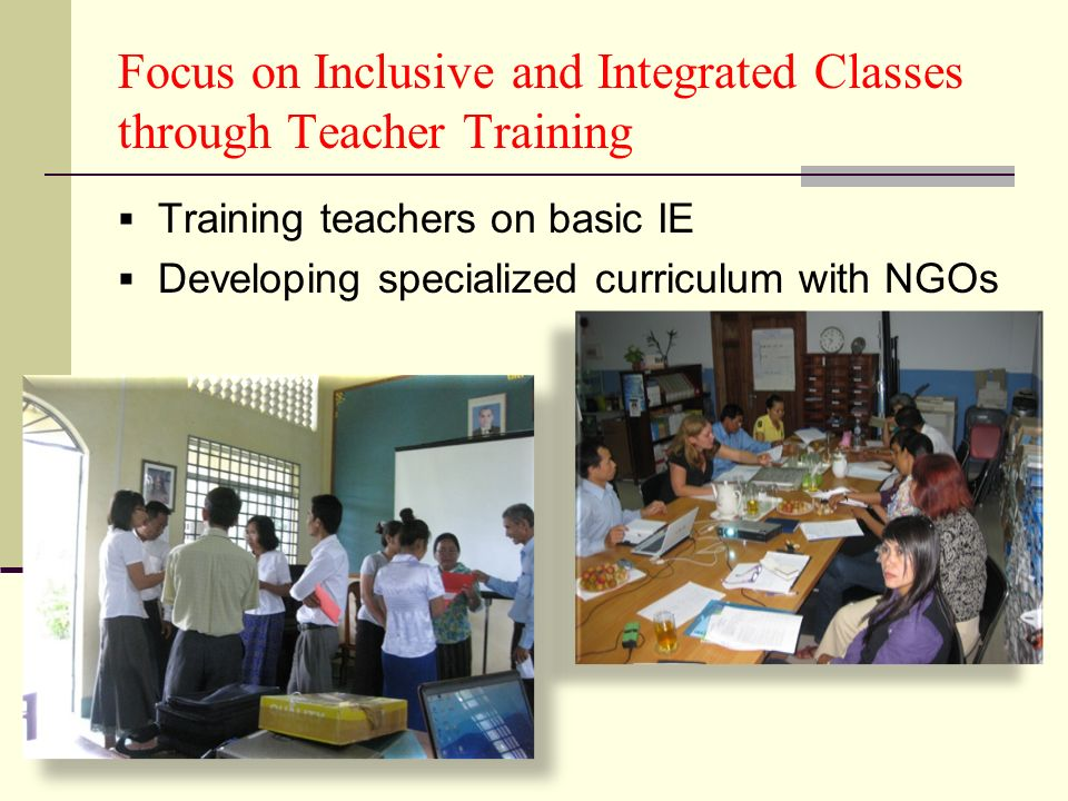 Focus on Inclusive and Integrated Classes through Teacher Training