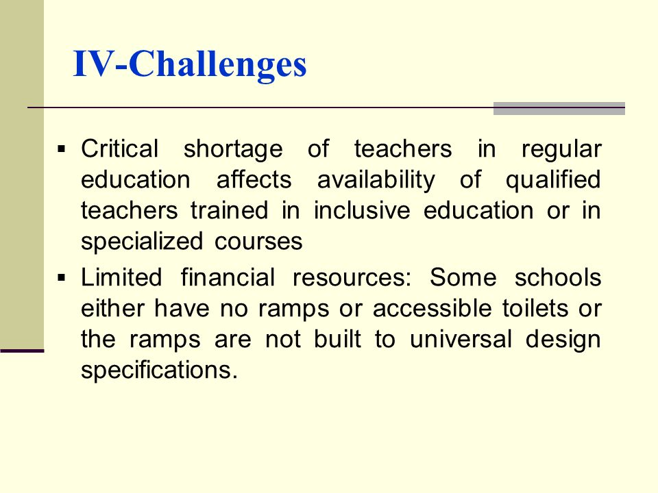 IV-Challenges