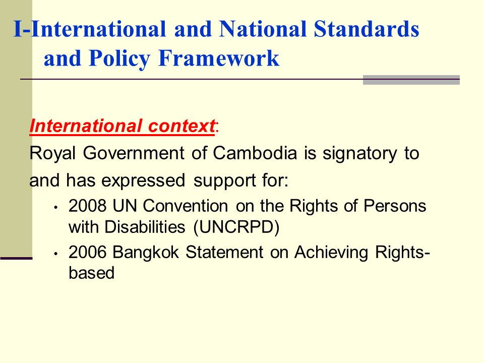 I-International and National Standards and Policy Framework