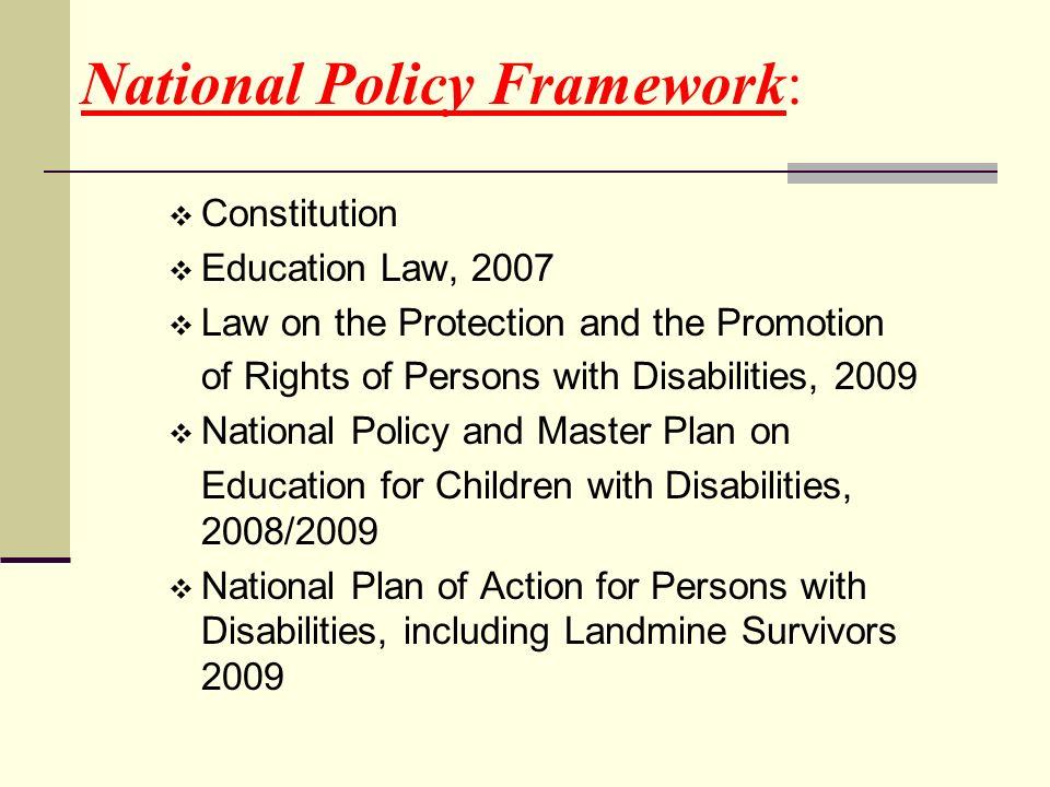 National Policy Framework: