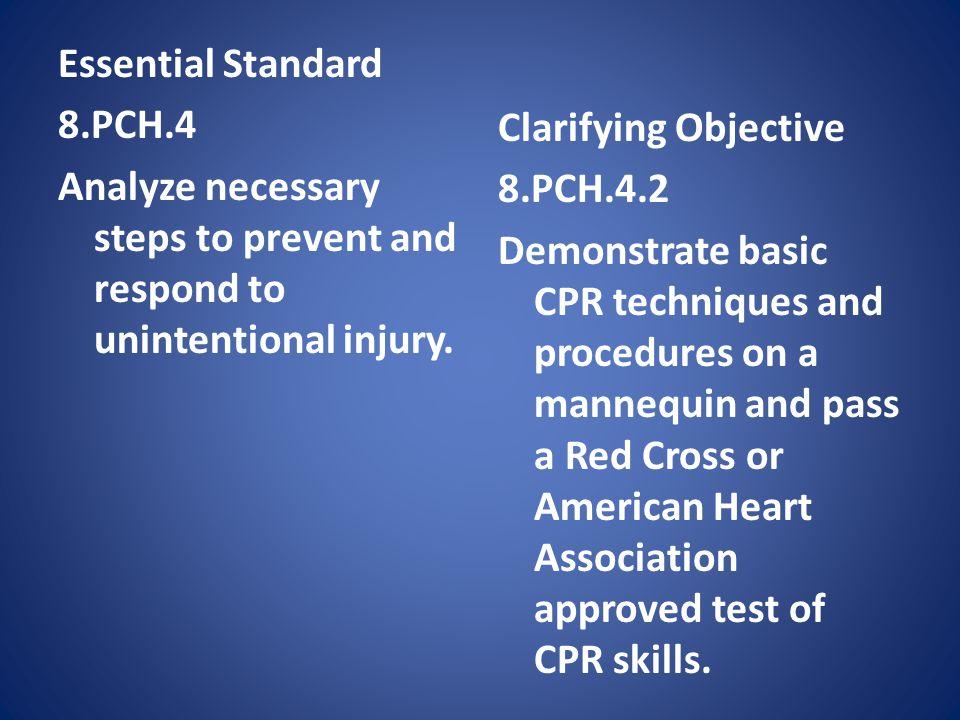 Essential Standard 8. PCH
