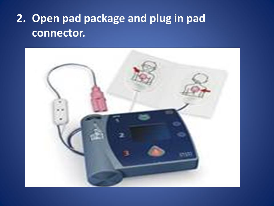 Open pad package and plug in pad connector.