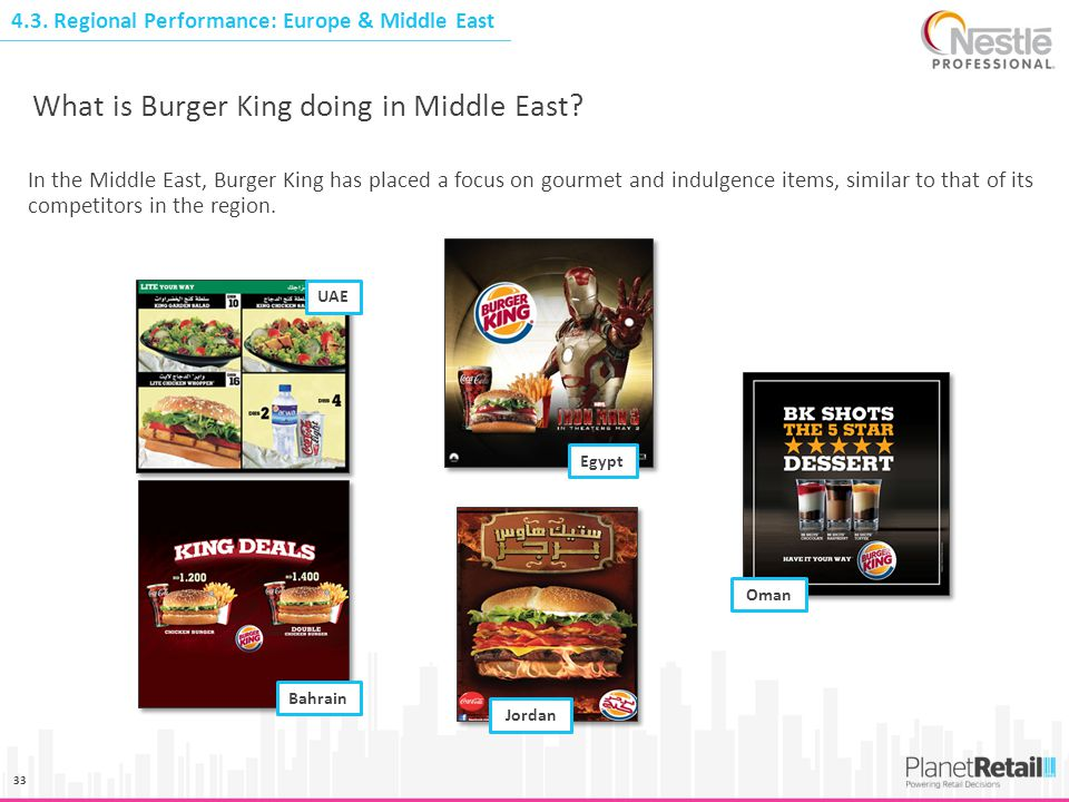 What is Burger King doing in Middle East
