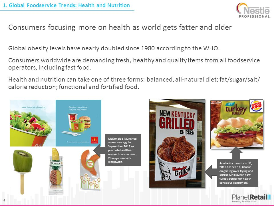 Consumers focusing more on health as world gets fatter and older