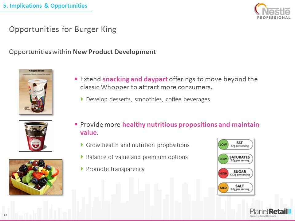 Opportunities for Burger King