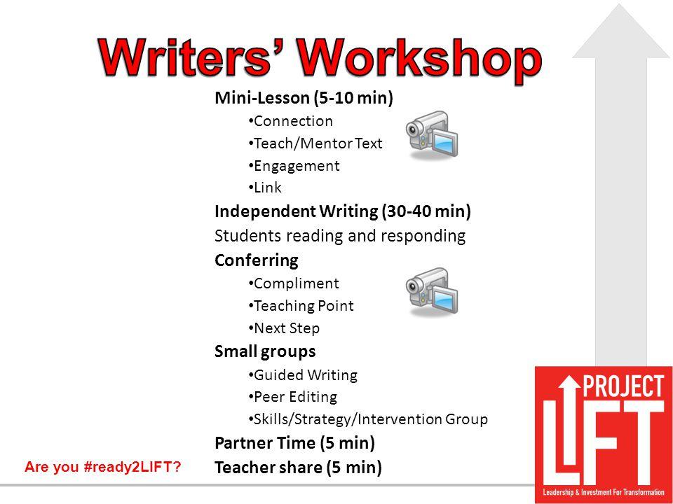 Writers' Workshop Mini-Lesson (5-10 min)