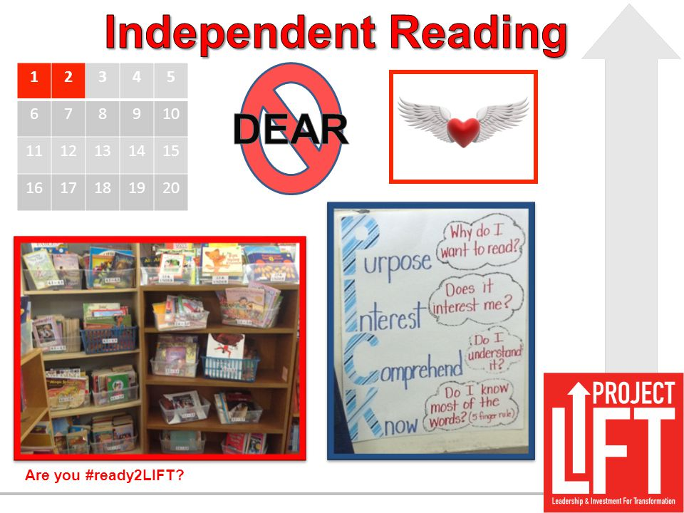 Independent Reading DEAR 1 2 3 4 5 6 7 8 9 10 11 12 13 14 15 16 17 18