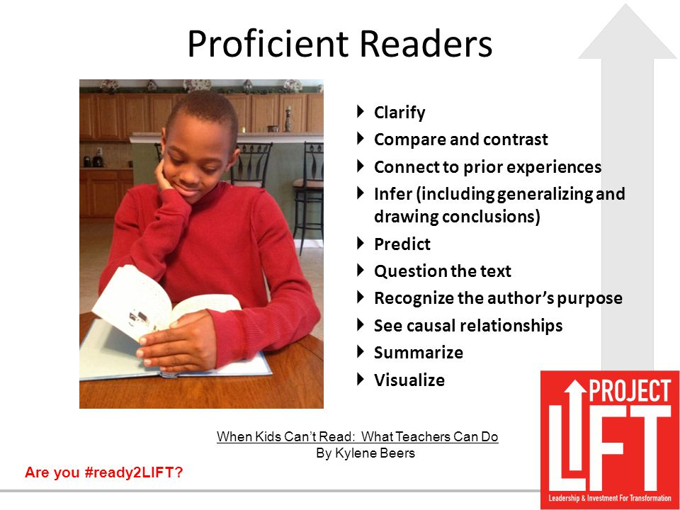 Proficient Readers Clarify Compare and contrast