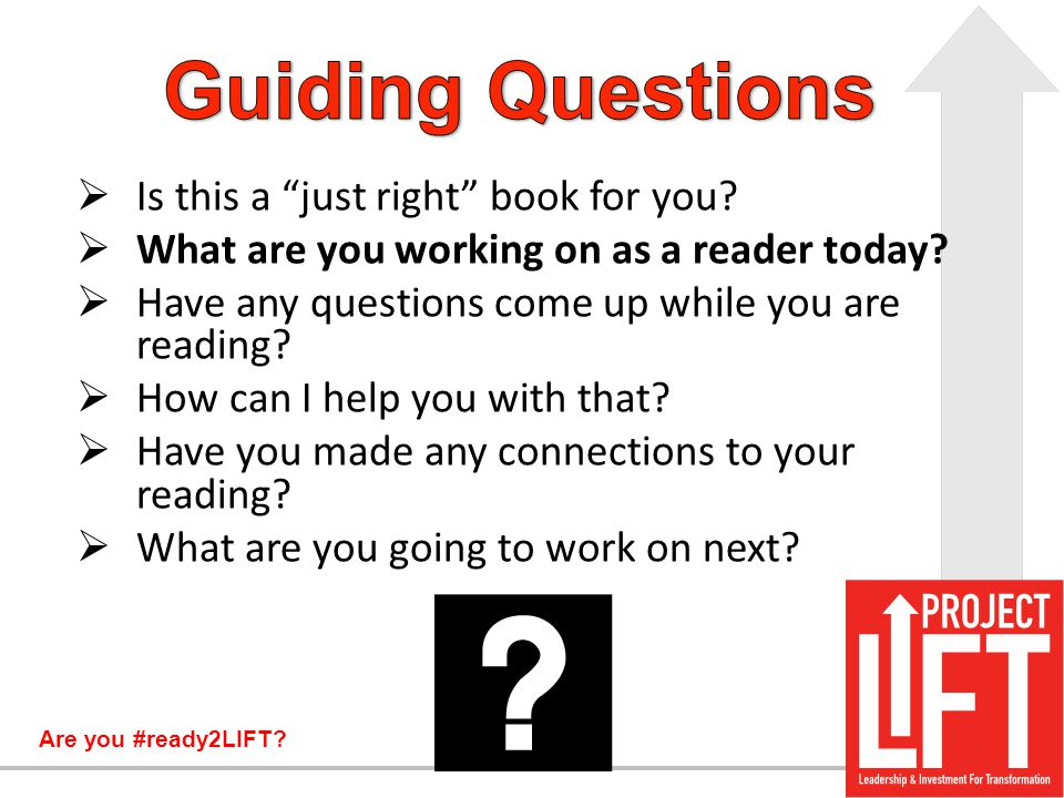 Guiding Questions Is this a just right book for you