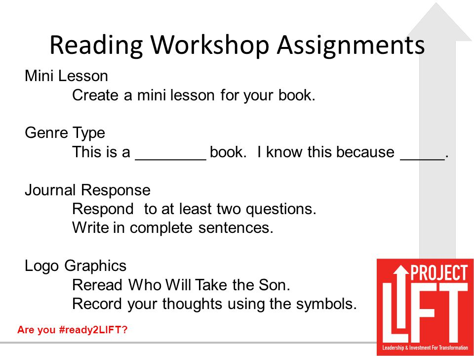 Reading Workshop Assignments