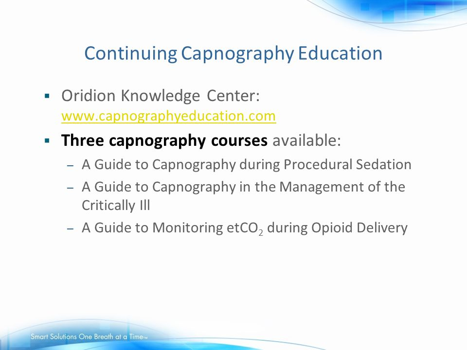 Continuing Capnography Education