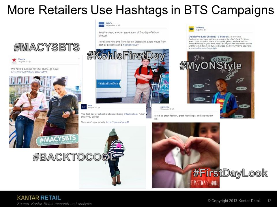 More Retailers Use Hashtags in BTS Campaigns