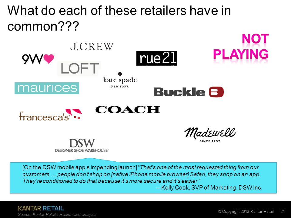 What do each of these retailers have in common