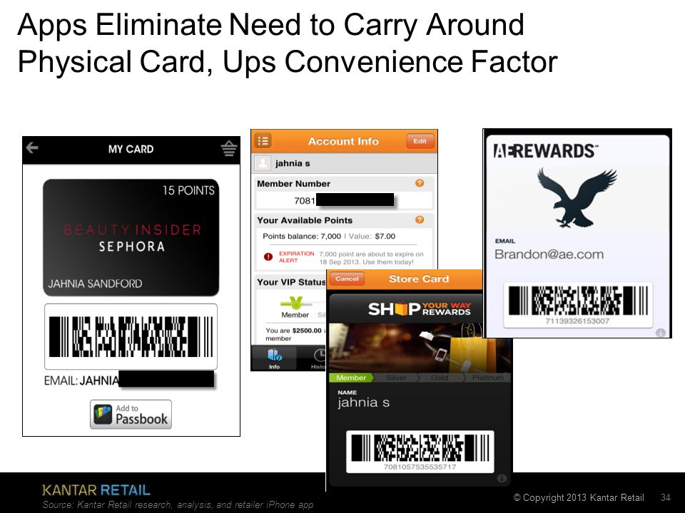 Apps Eliminate Need to Carry Around Physical Card, Ups Convenience Factor