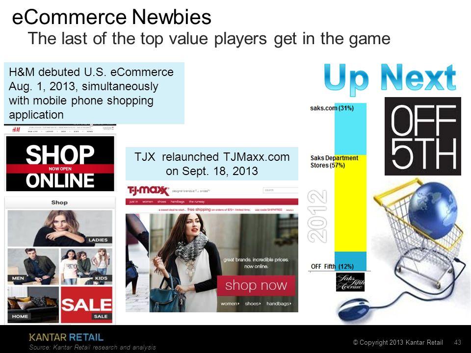 TJX relaunched TJMaxx.com on Sept. 18, 2013
