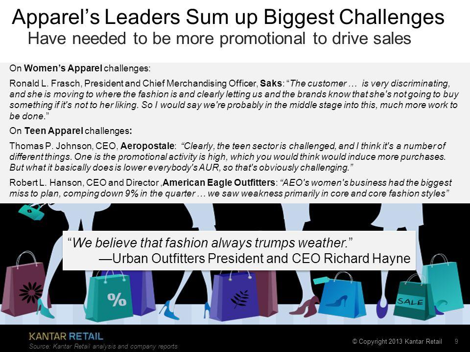 Apparel's Leaders Sum up Biggest Challenges
