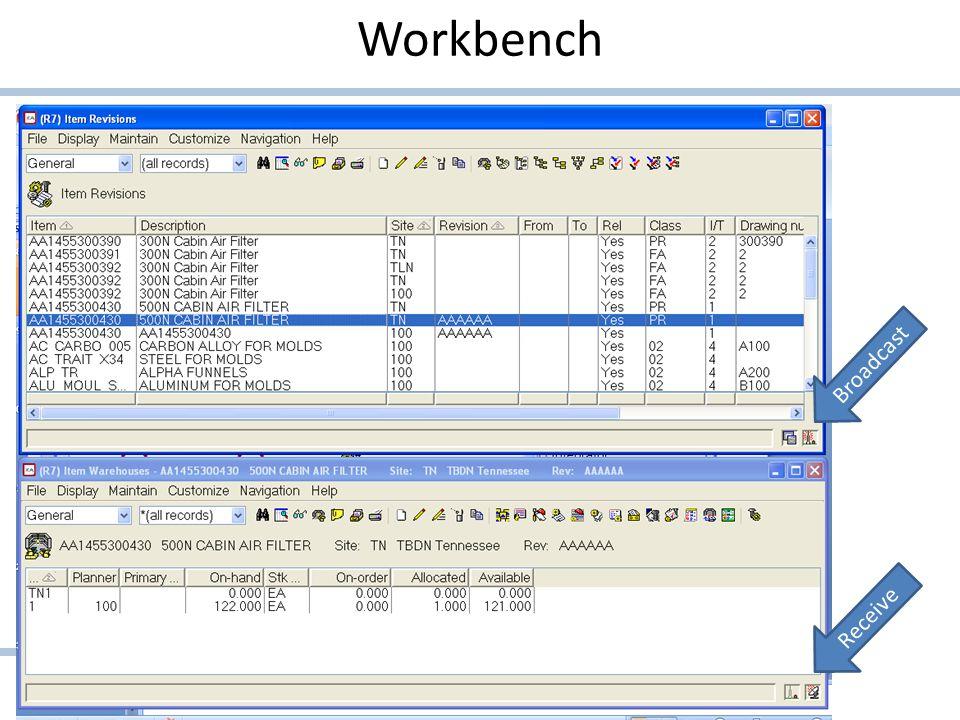 Workbench Broadcast Receive