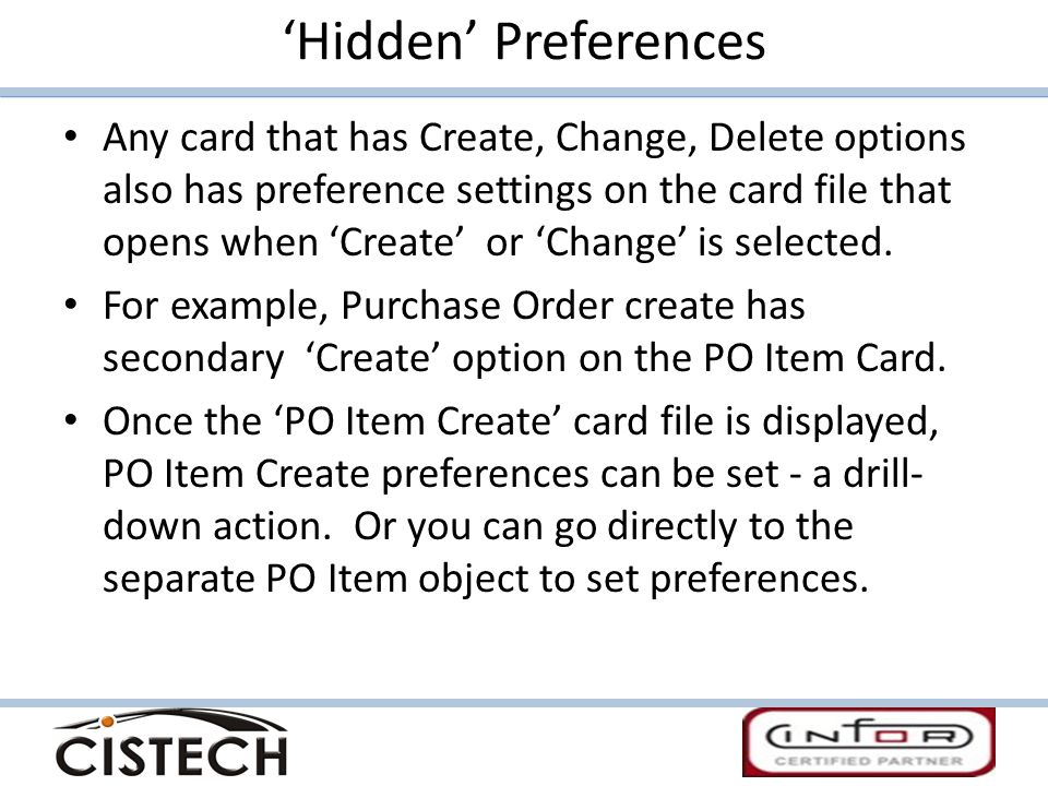 'Hidden' Preferences