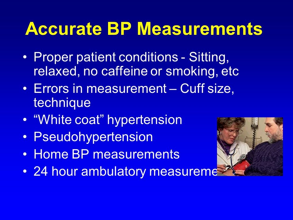 Accurate BP Measurements