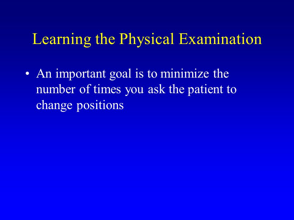 Learning the Physical Examination