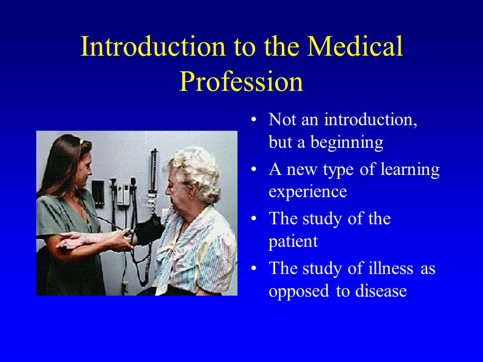 Introduction to the Medical Profession