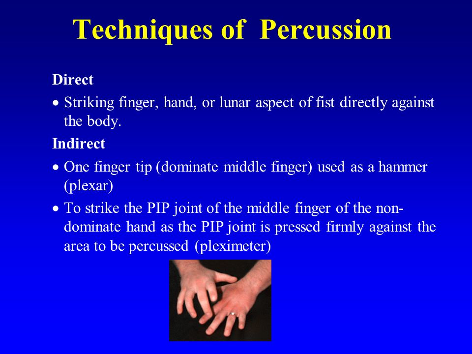 Techniques of Percussion