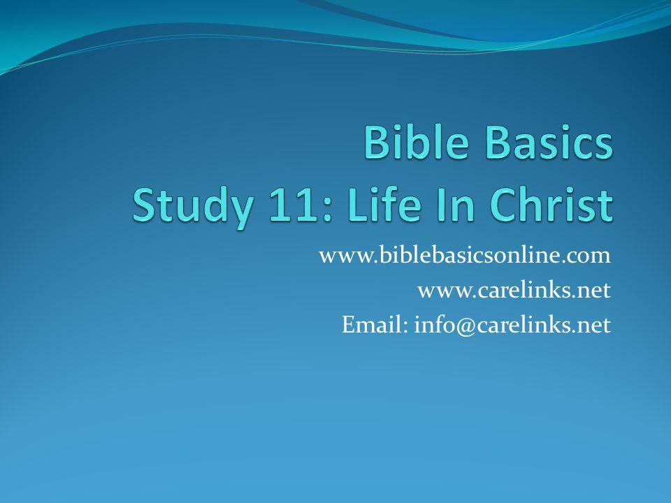 Bible Basics Study 11: Life In Christ