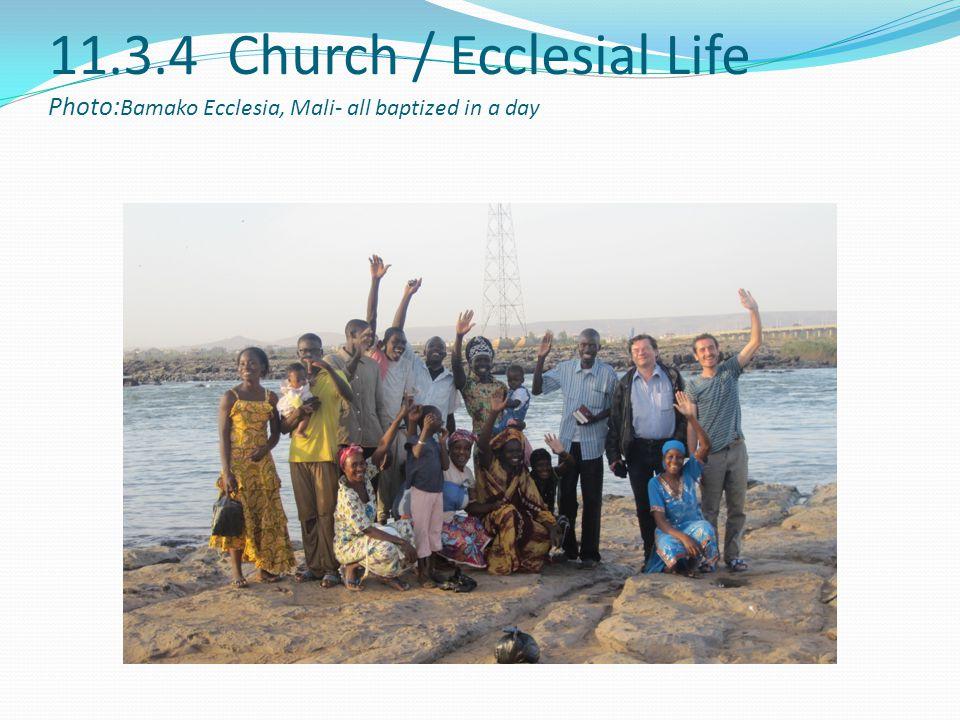 11.3.4 Church / Ecclesial Life Photo:Bamako Ecclesia, Mali- all baptized in a day