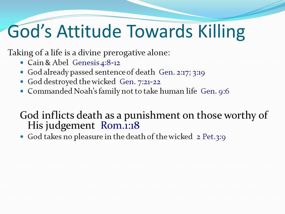 God's Attitude Towards Killing