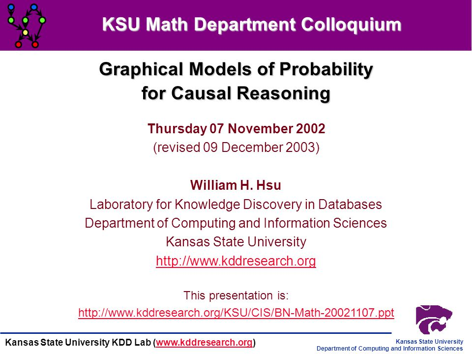 KSU Math Department Colloquium