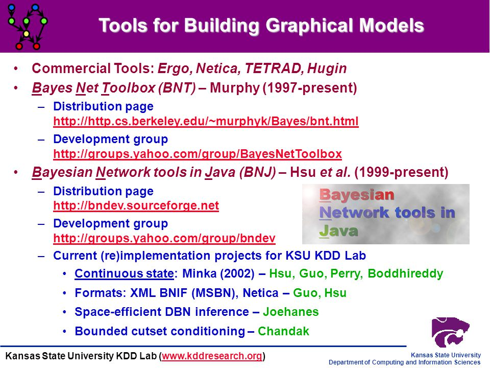 Tools for Building Graphical Models
