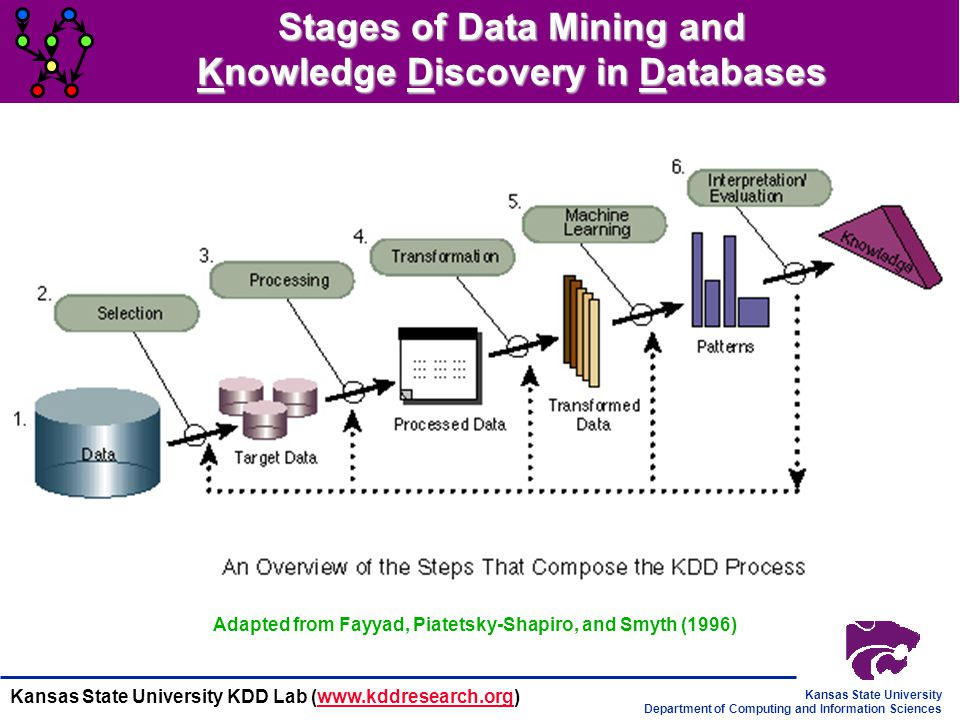 Stages of Data Mining and Knowledge Discovery in Databases