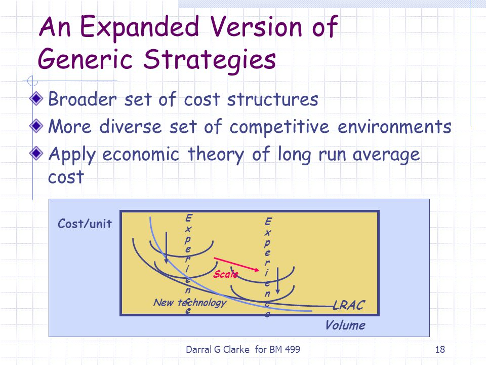 An Expanded Version of Generic Strategies