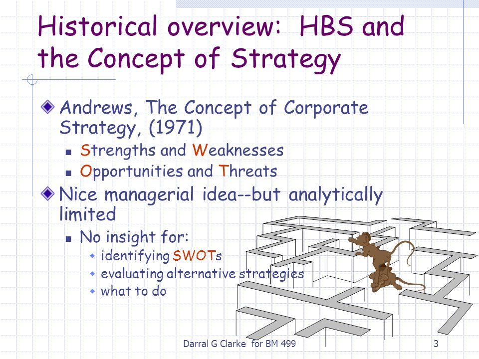 Historical overview: HBS and the Concept of Strategy